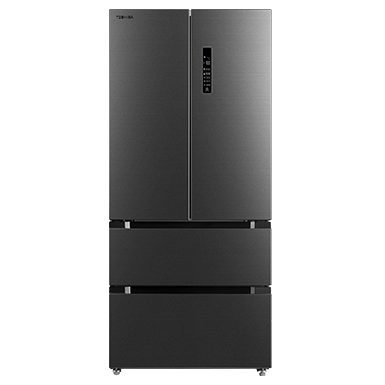 Toshiba French Door Refrigerator is built around your daily needs. It converts spaces to maximize your convenience, from a Fridge & Freezer to a Mega Refrigerator and from all sections ON to a only Mini Fridge or a Freezer.