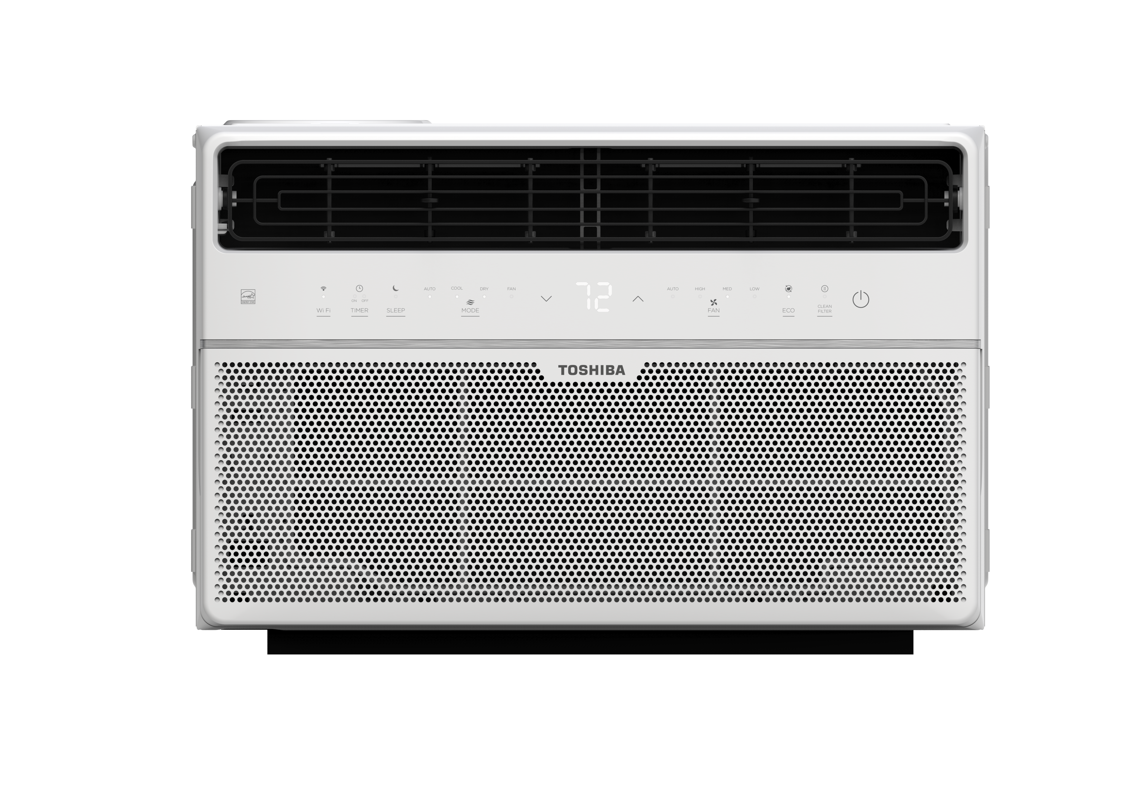 The Toshiba Smart 8,000 BTU window air conditioner has the power to cool up to 350 square feet with a sleek design, a unique touch control interface and a compact remote control. Smart functionalities include a smartphone app to control your AC through Wi-Fi from anywhere, at home or through the cloud, or even using the Amazon Alexa voice assistant with the Toshiba AC Skill. The unit fits most windows with the easy to use installation panel kit for quick setup and offers 4 speeds for cooling, ventilation or dehumidification, including a fully automatic mode and 4-way air direction control. To save energy, the air conditioner is ENERGY STAR certified® and offers an ECO mode, while other intelligent features such as the 24-hour Timer, Sleep mode and the Filter Clean warning help you to personalize your comfort. Cool, dehumidify or ventilate the space you need and get peace of mind with a 1 year warranty by Toshiba.
